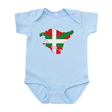 Basque Community Flag and Map Infant Bodysuit