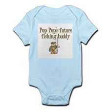 Pop Pop's Future Fishing Buddy Infant Creeper