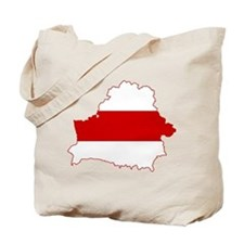 Belarus Flag and Map Tote Bag