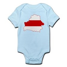 Belarus Flag and Map Infant Bodysuit