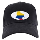 Colombia Civil Ensign Flag and Map Baseball Cap