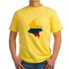 Colombia Civil Ensign Flag and Map T