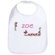 Butterfly & Flowers Zoe Bib