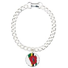 Dominica Flag and Map Bracelet