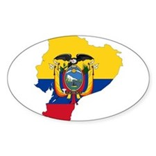 Ecuador Flag and Map Decal