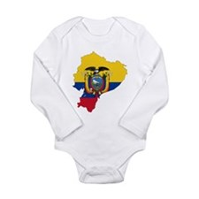 Ecuador Flag and Map Long Sleeve Infant Bodysuit