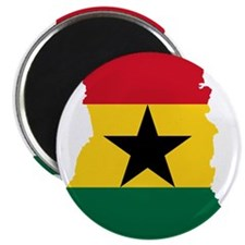 "Ghana Flag and Map 2.25"" Magnet (10 pack)"