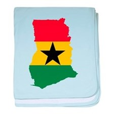 Ghana Flag and Map baby blanket