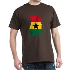 Ghana Flag and Map T-Shirt
