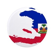 "Haiti Flag and Map 3.5"" Button"