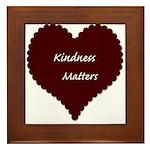 Kindness Matters Heart Framed Tile