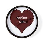 Kindness Matters Heart Wall Clock