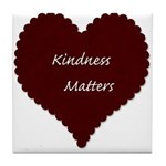 Kindness Matters Heart Tile Coaster