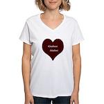Kindness Matters Heart Women's V-Neck T-Shirt