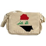 Iraq Flag and Map Messenger Bag