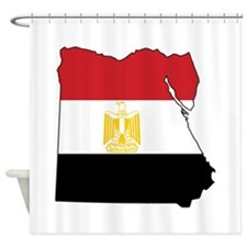 Flag Map of Egypt Shower Curtain