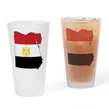 Flag Map of Egypt Drinking Glass