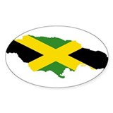 Jamaica Flag and Map Decal