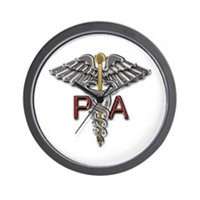 PA Medical Symbol Wall Clock