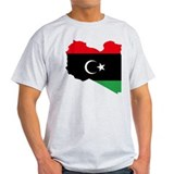 Libya Flag and Map T-Shirt