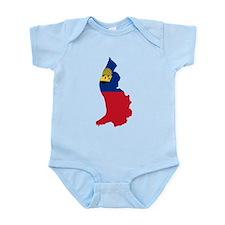 Liechtenstein Flag and Map Infant Bodysuit