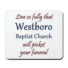 Westboro #12 Mousepad