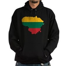Lithuania State Ensign Flag and Map Hoodie