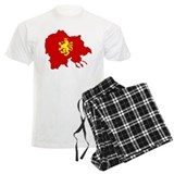Macedonia Lion Flag and Map Pajamas
