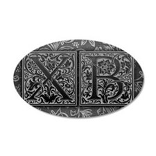 XB initials. Vintage, Floral Wall Sticker