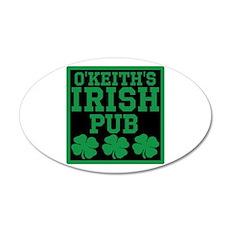 Personalized Irish Pub 35x21 Oval Wall Decal