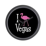 I Love Vegas Wall Clock