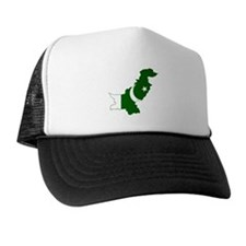 Pakistan Flag and Map Trucker Hat