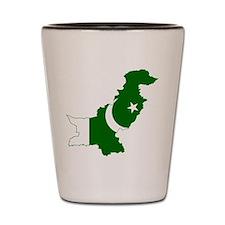 Pakistan Flag and Map Shot Glass