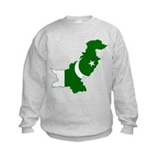 Pakistan Flag and Map Sweatshirt