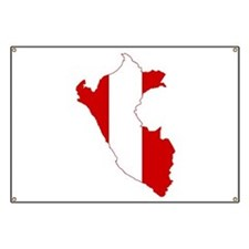 Peru Flag and Map Banner