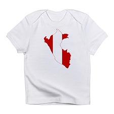 Peru Flag and Map Infant T-Shirt