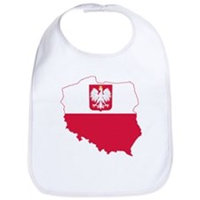 Poland State Ensign Flag and Map Bib