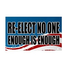 Re-elect No One Wall Decal