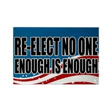 Re-elect No One Rectangle Magnet