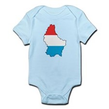 Flag Map of Luxembourg Infant Bodysuit