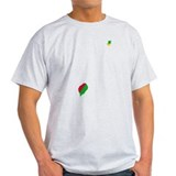 Sao Tome and Principe Flag and Map T-Shirt
