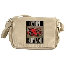 Octopi Portland (rainy version) Messenger Bag