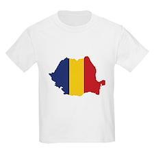 Flag Map of Romania T-Shirt