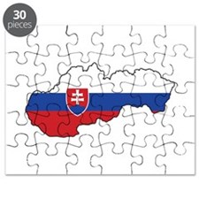Flag Map of Slovakia Puzzle