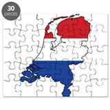 Flag Map of the Netherlands Puzzle