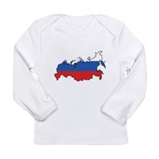 Flag Map of the Russian Federation Long Sleeve Inf