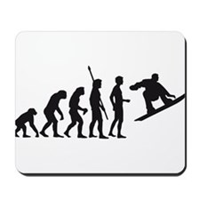 evolution snowboard Mousepad