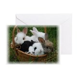 Basket full of Bunnies Greeting Cards (Pk of 10)