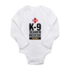 Cute Dog tracking Long Sleeve Infant Bodysuit
