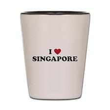 I Love Singapore Shot Glass